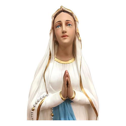 Estatua Virgen de Lourdes 75 cm fibra de vidrio pintada lúcida 2