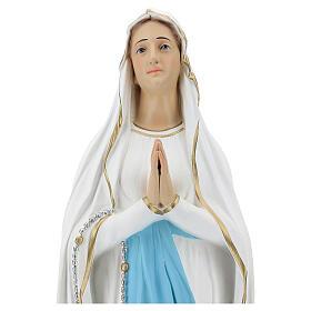 Nossa Senhora de Lourdes 75 cm fibra de vidro pintada brilhante