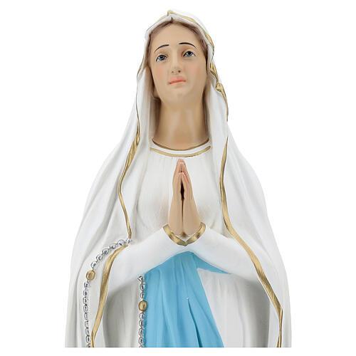Our Lady of Lourdes figure, 75 cm, painted fiberglass 2