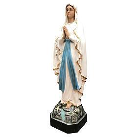 Estatua Virgen de Lourdes fibra de vidrio 130 cm pintada ojos de cristal s3