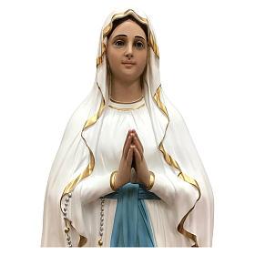 Imagem Nossa Senhora de Lourdes olhos de vidro Fibra de Vidro Pintada 130 cm