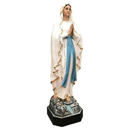 Statue of Lady of Lourdes 130 cm, painted fiberglass glass eyes 4