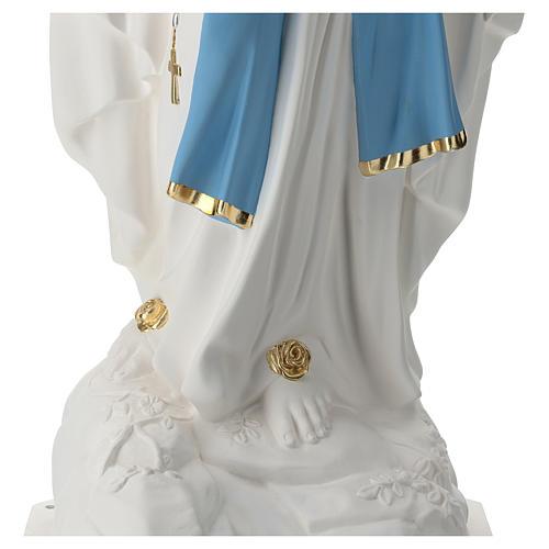 Statua Madonna di Lourdes vetroresina 130 cm bianca PER ESTERNO 6