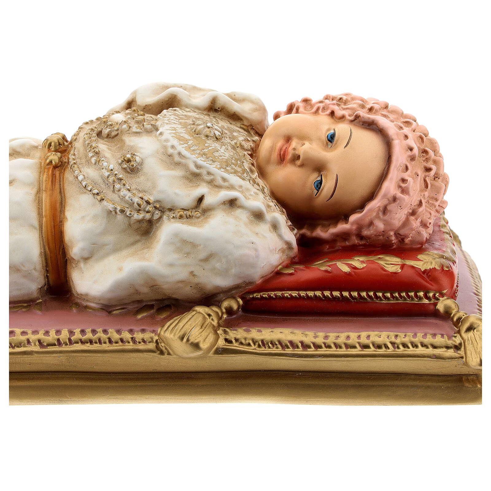 Statue Marie Enfant 30 cm résine peinte 4