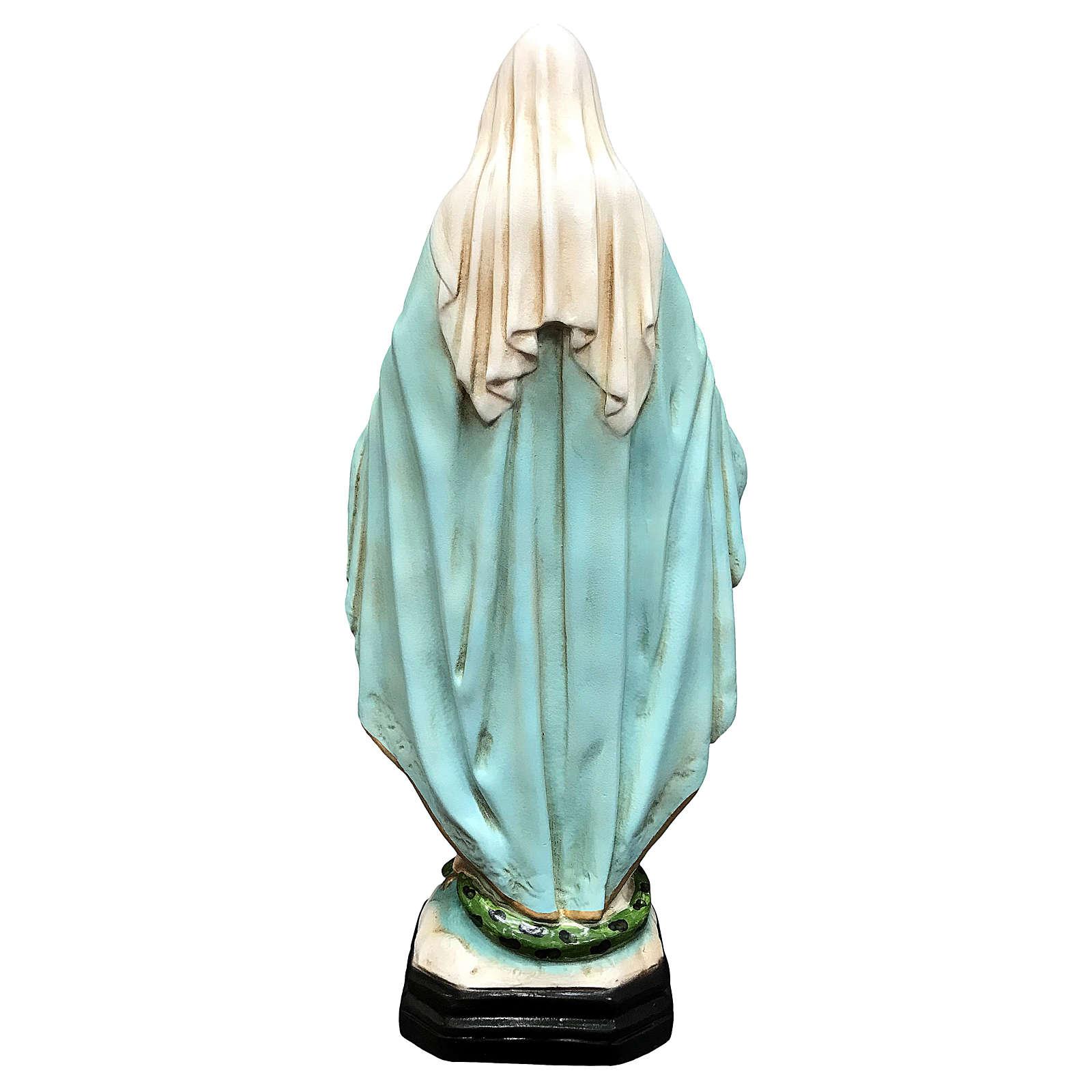 Statua Madonna Miracolosa 40 cm resina dipinta 4