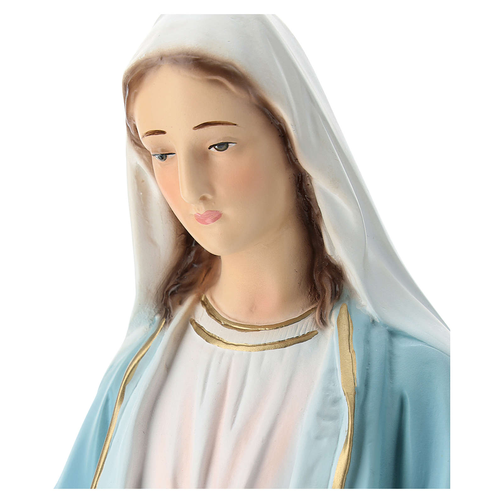Statue of Our Lady of Miracles in painted fibreglass 50 cm 4