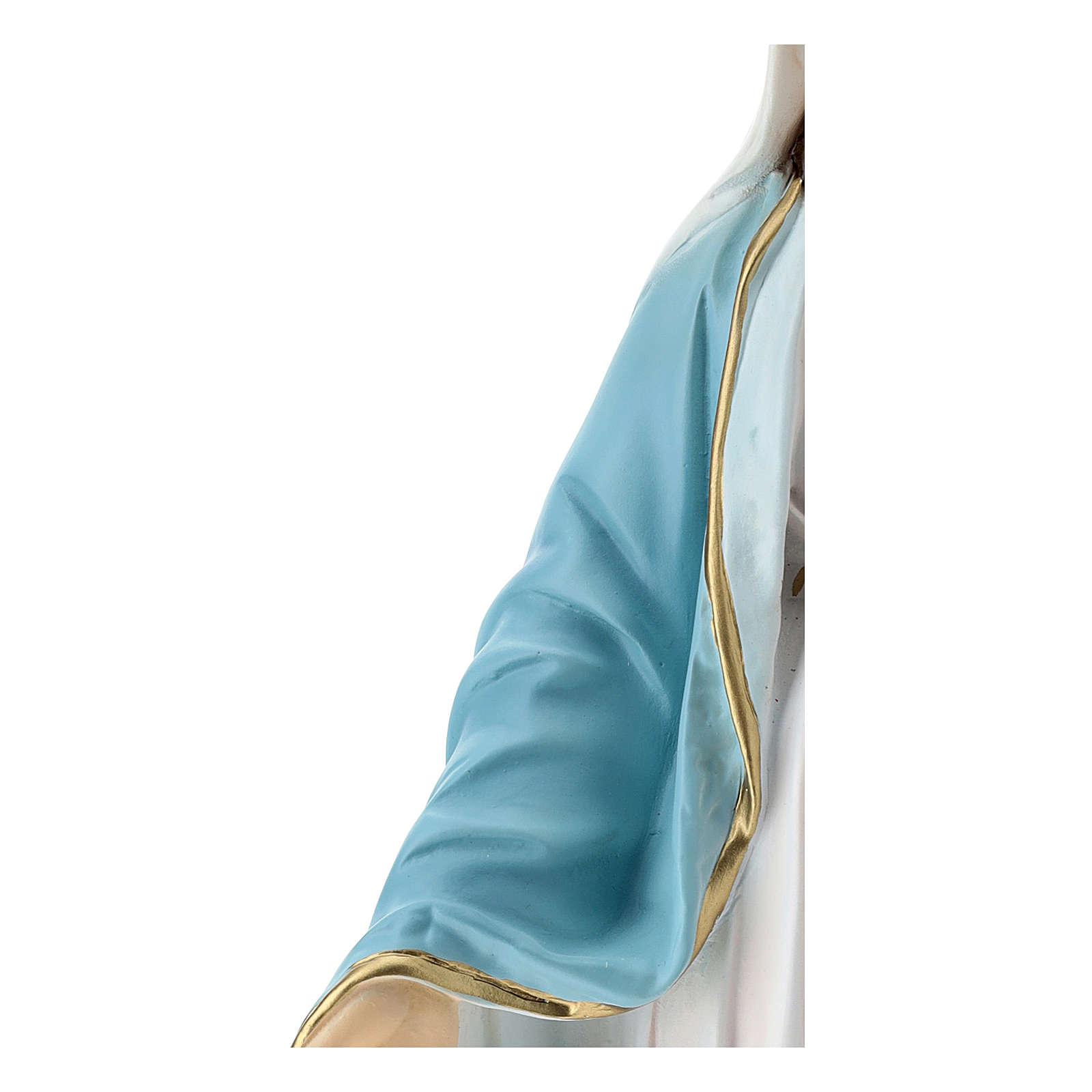 Estatua Virgen Milagrosa 50 cm fibra de vidrio pintada 4