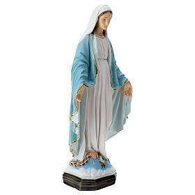 Estatua Virgen Milagrosa 50 cm fibra de vidrio pintada s5