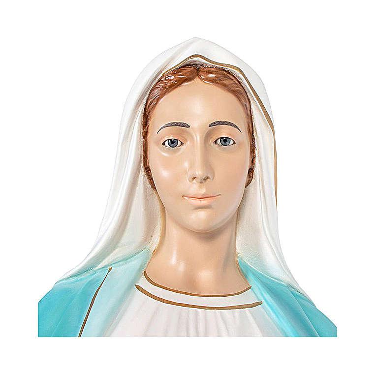 Estatua Virgen Milagrosa 180 cm fibra de vidrio pintada ojos de cristal 4