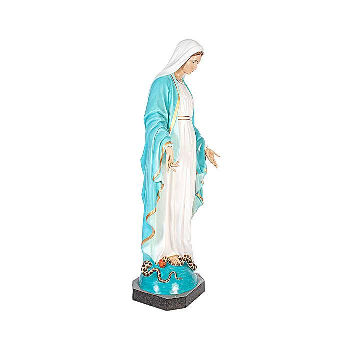 Statua Madonna Miracolosa 180 cm vetroresina dipinta occhi vetro 4