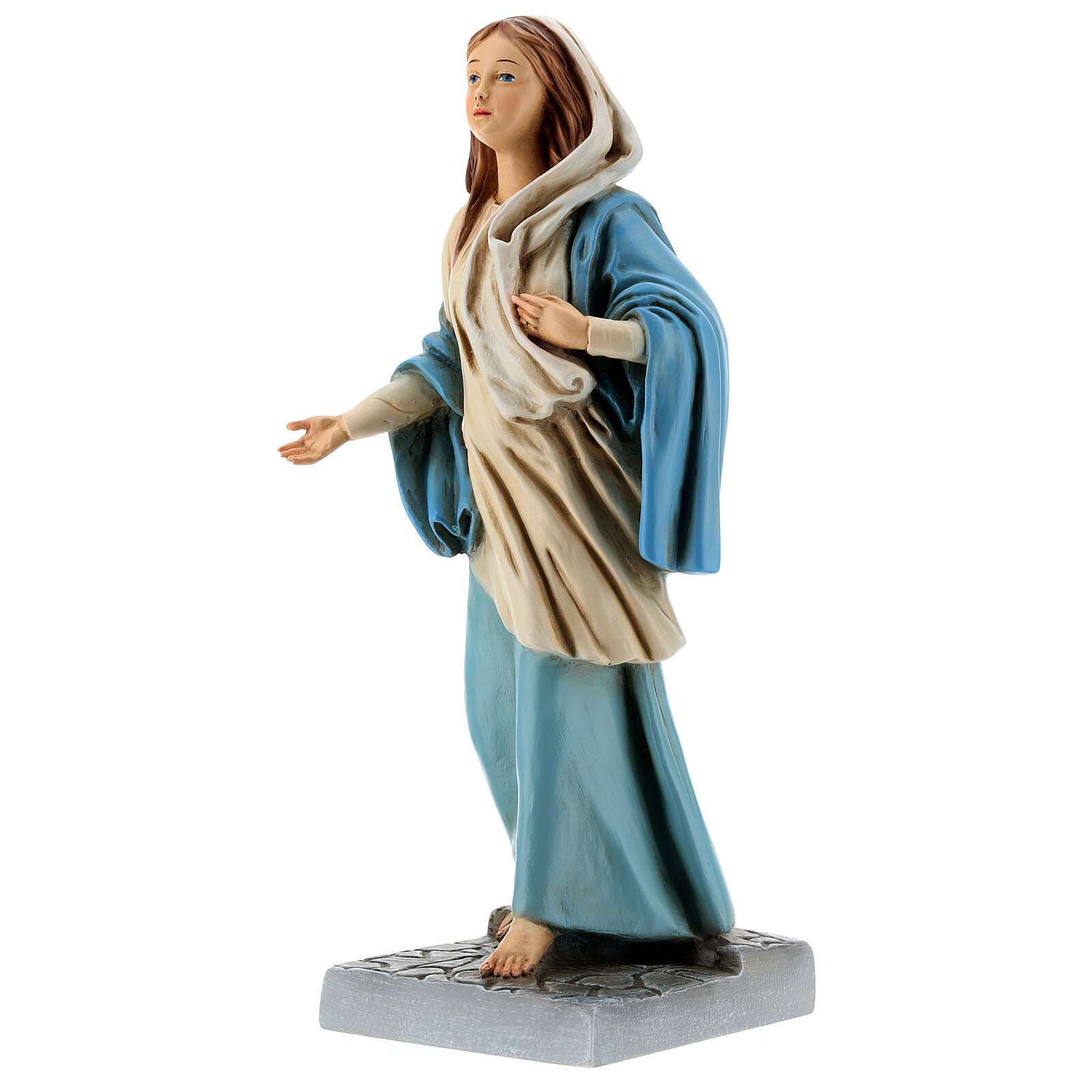 Statue of Mary of Nazareth in painted resin 30 cm 4