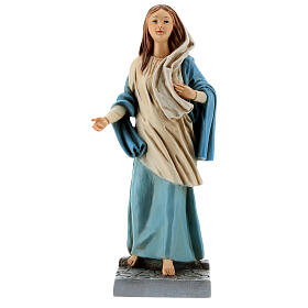 Statue of Mary of Nazareth in painted resin 30 cm s1