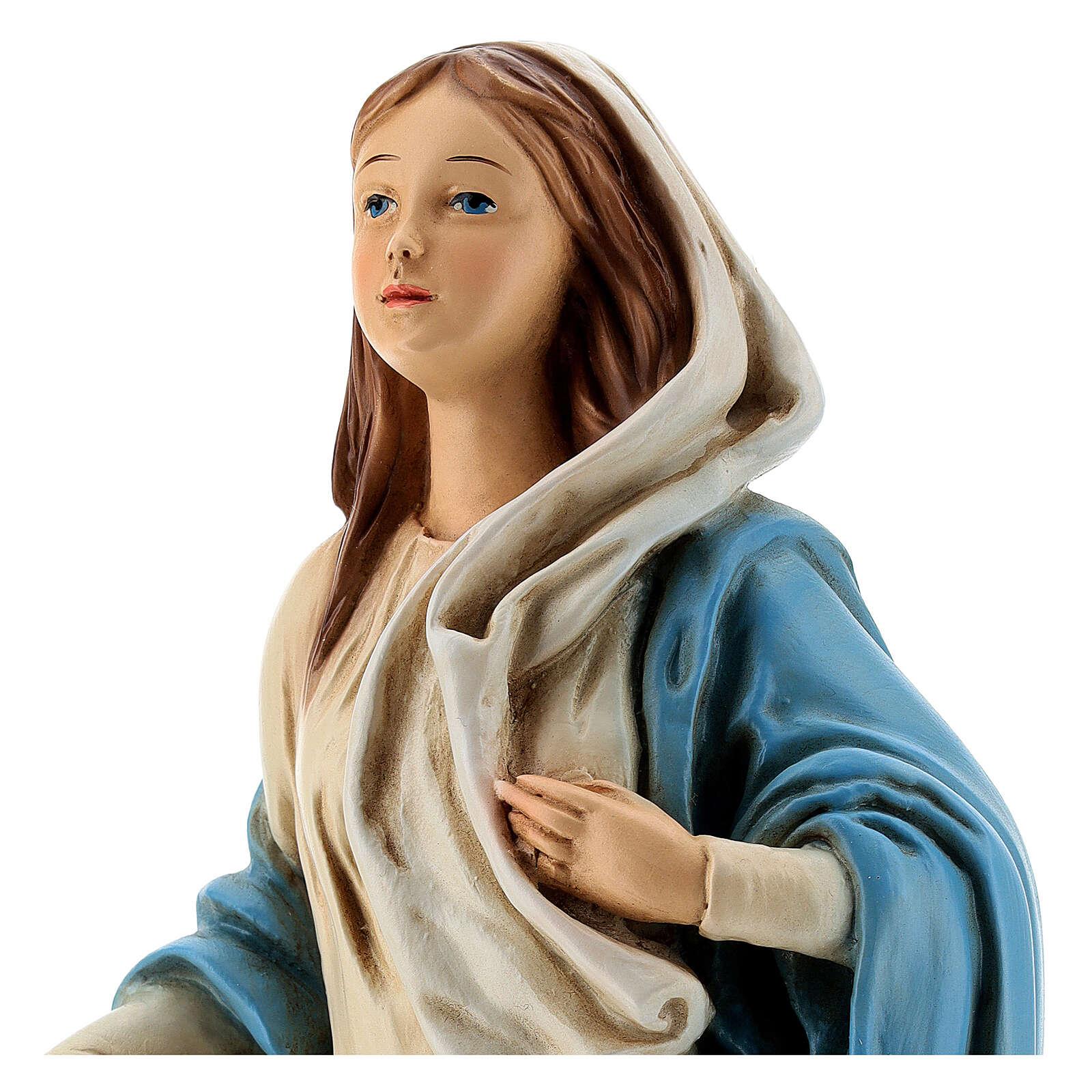 Estatua Virgen de Nazaret 30 cm resina pintada 4