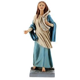 Estatua Virgen de Nazaret 30 cm resina pintada s1