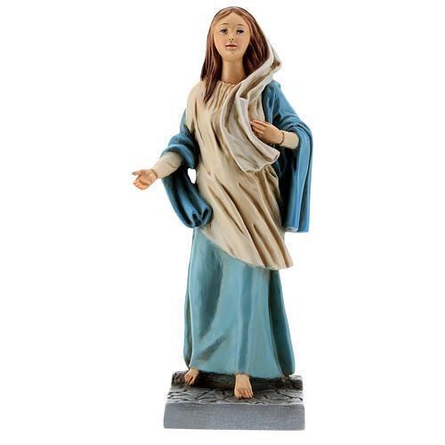 Estatua Virgen de Nazaret 30 cm resina pintada 1