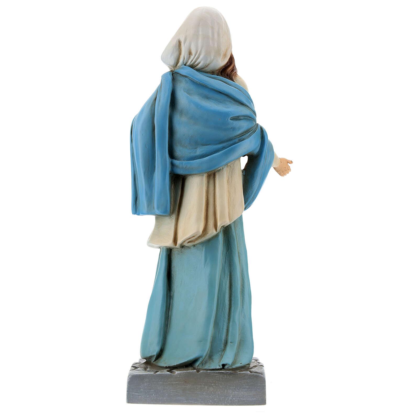 Statua Madonna di Nazareth 30 cm resina dipinta 4