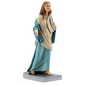 Mary of Nazareth statue, 30 cm painted resin s4