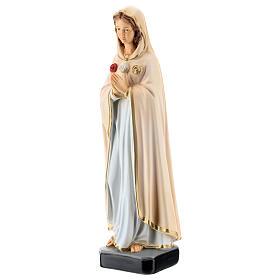 Statue Notre-Dame Rose Mystique résine 30 cm peinte s3