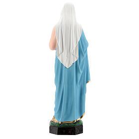 Estatua Virgen Sagrado Corazón de María fibra de vidrio 65 cm pintada s5