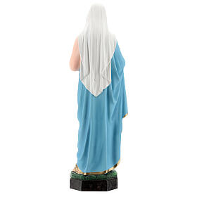 Statua Madonna Sacro cuore di Maria vetroresina 65 cm dipinta s5