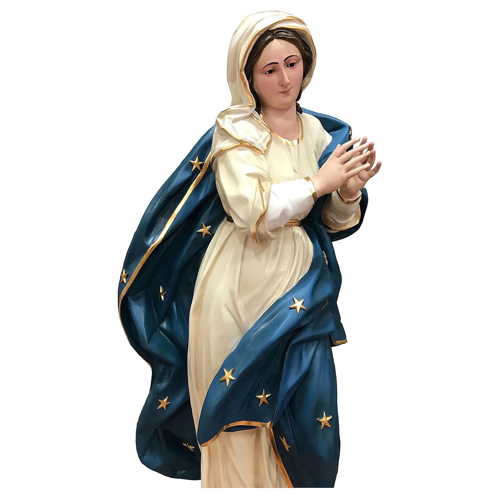 Estatua Virgen Inmaculada 145 cm fibra de vidrio pintada 4