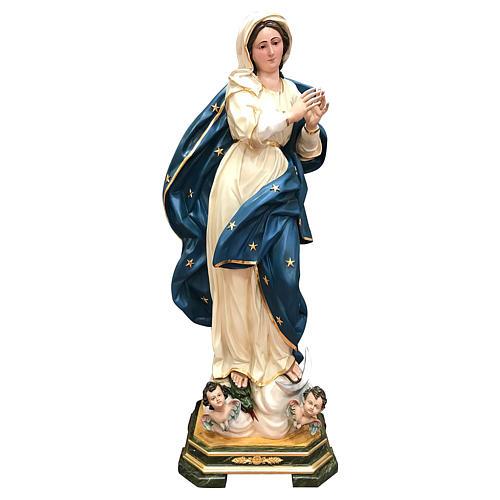 Estatua Virgen Inmaculada 145 cm fibra de vidrio pintada 1