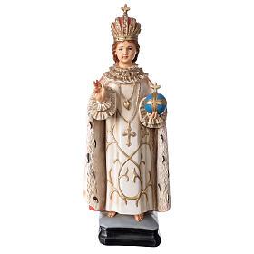 Statue Enfant Jésus de Prague résine 40 cm peinte s1