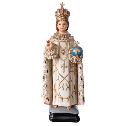 Statue Enfant Jésus de Prague résine 40 cm peinte 1