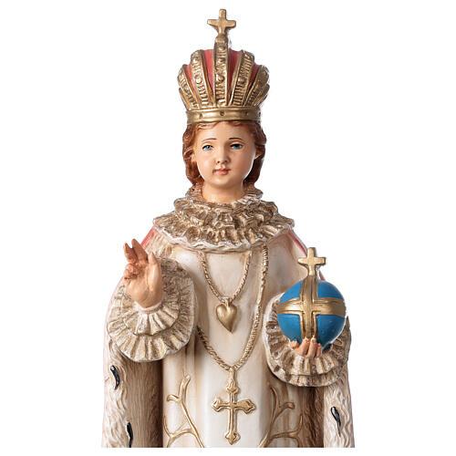 Statue Enfant Jésus de Prague résine 40 cm peinte 2