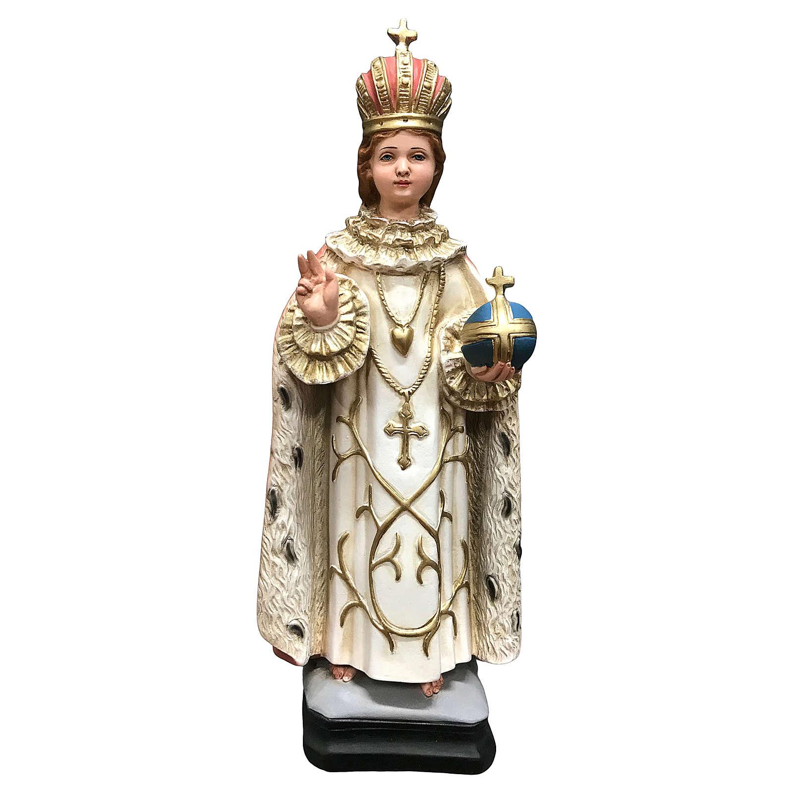 Statua Gesù bambino di Praga 40 cm resina dipinta 4
