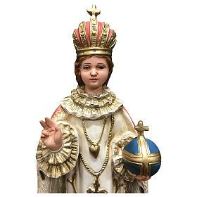 Statua Gesù bambino di Praga 40 cm resina dipinta s2