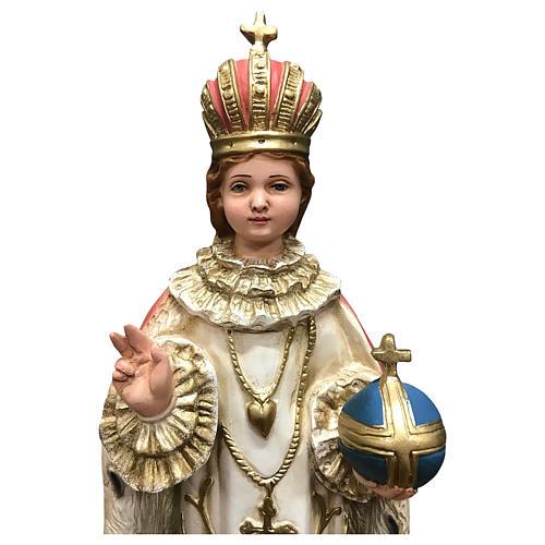 Statua Gesù bambino di Praga 40 cm resina dipinta 2