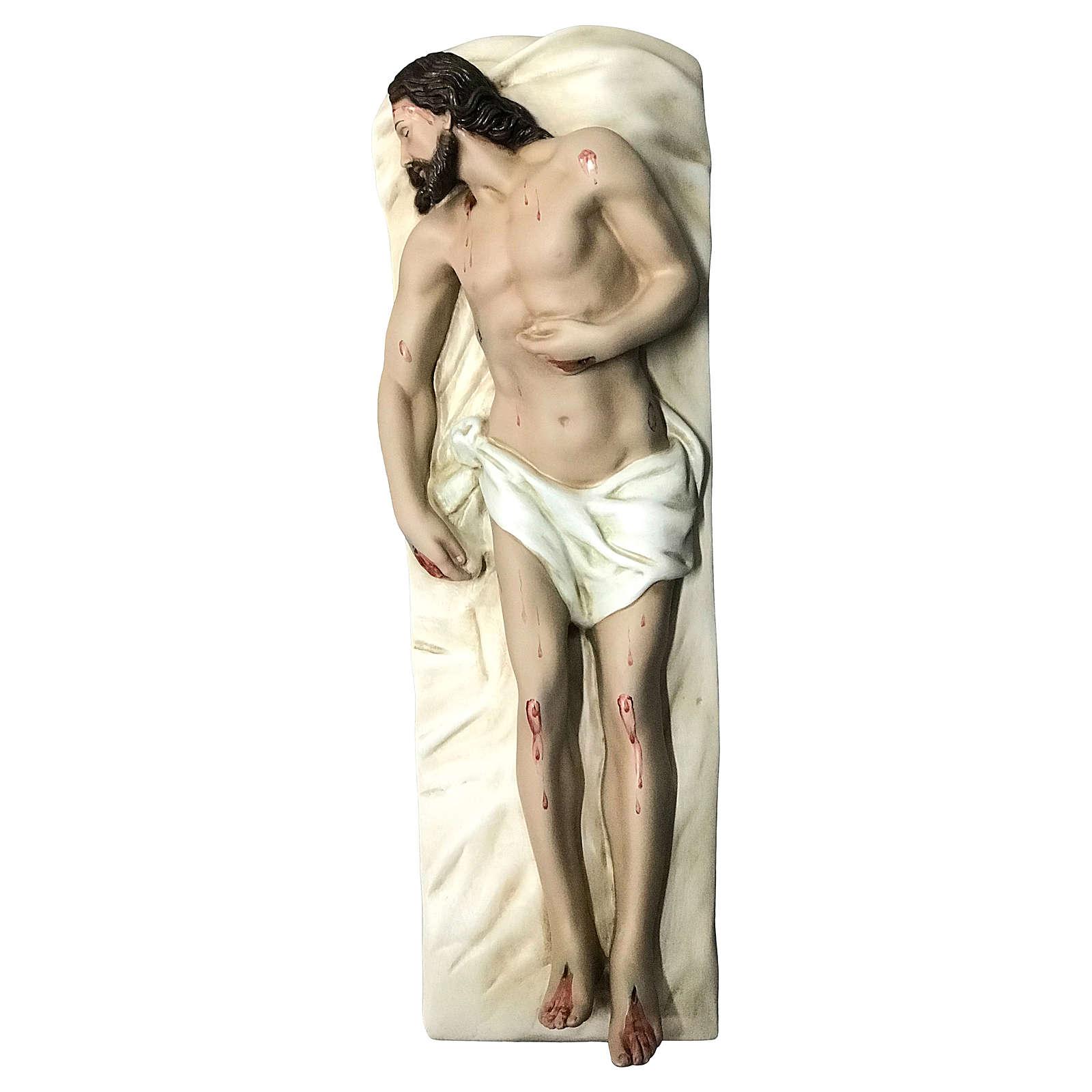 Statua Cristo morto vetroresina 50 cm dipinta 4