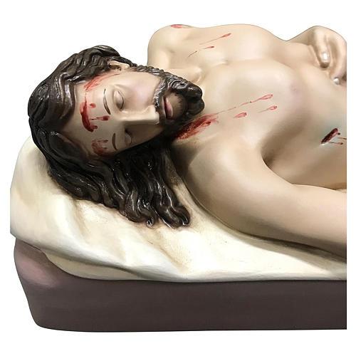 Statua Cristo morto vetroresina 50 cm dipinta 2