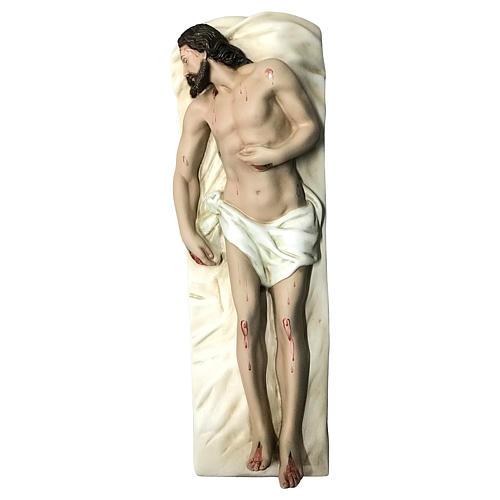 Statua Cristo morto vetroresina 50 cm dipinta 3
