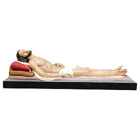 Statua Cristo morto vetroresina 155 cm dipinta s1