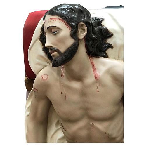 Statua Cristo morto vetroresina 155 cm dipinta 2