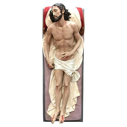 Statua Cristo morto vetroresina 155 cm dipinta 3