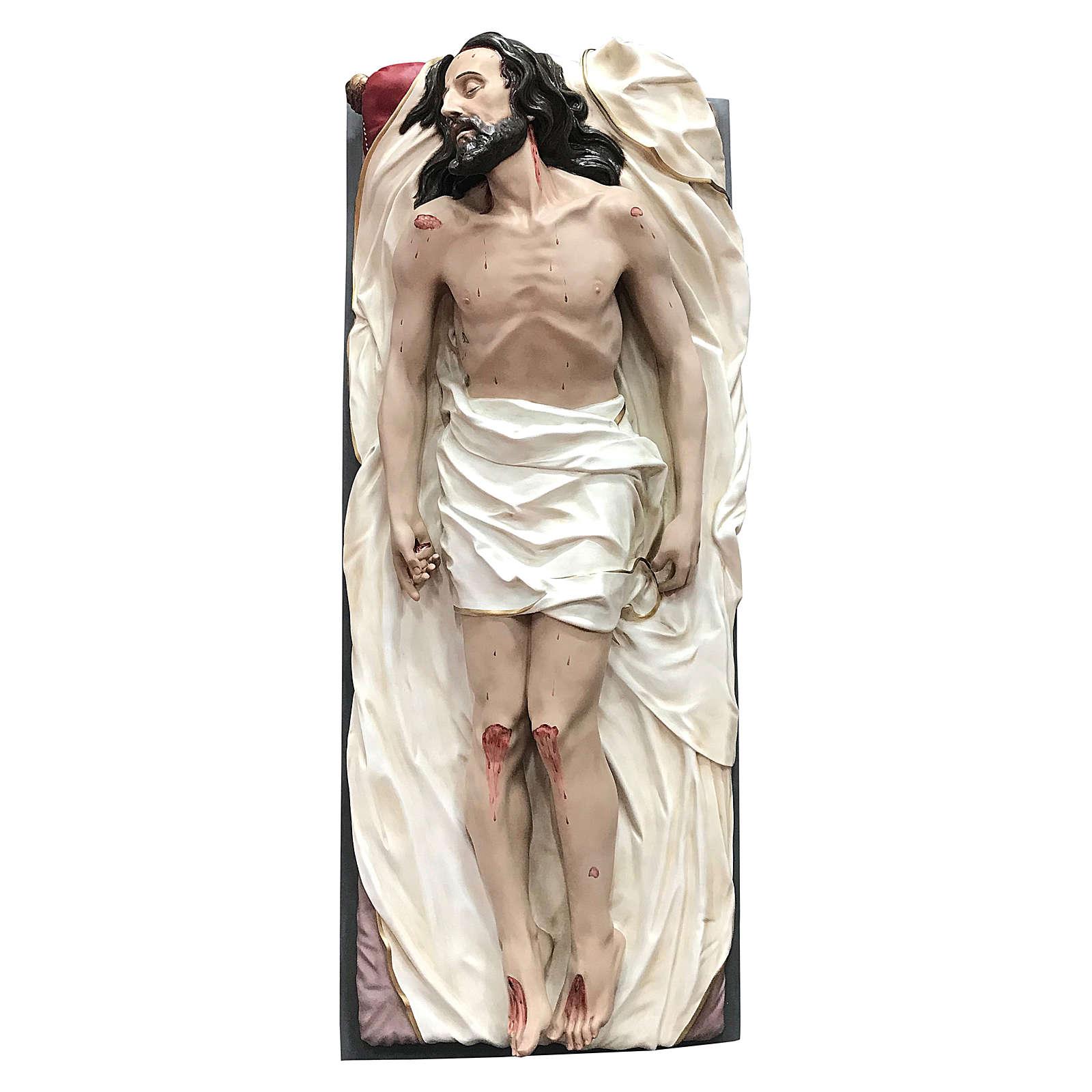 Statua Cristo morto vetroresina 165 cm dipinta 4