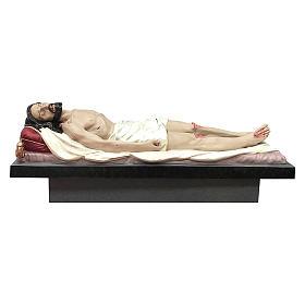 Statua Cristo morto vetroresina 165 cm dipinta s1