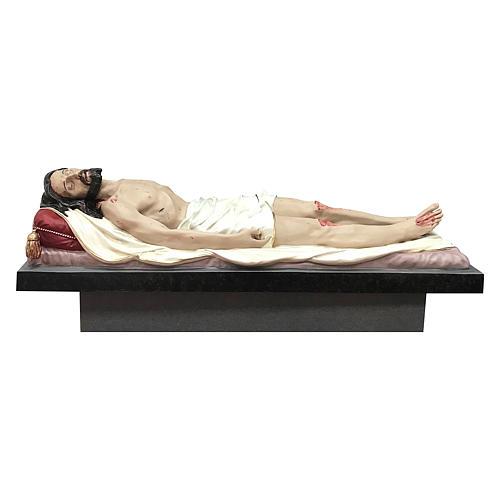 Statua Cristo morto vetroresina 165 cm dipinta 1