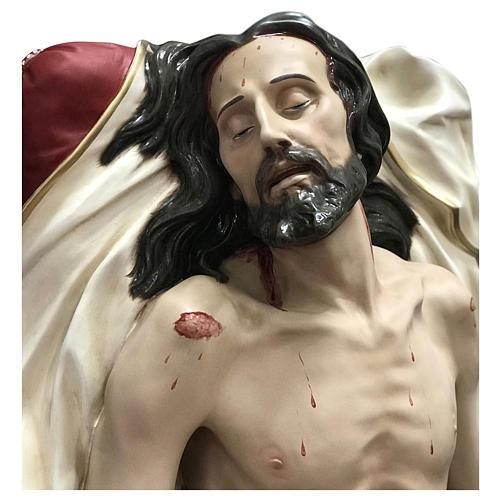 Statua Cristo morto vetroresina 165 cm dipinta 2