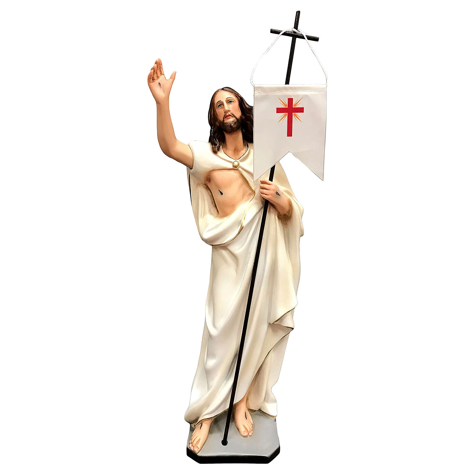 Statue of Resurrected Jesus in painted resin 40 cm 4
