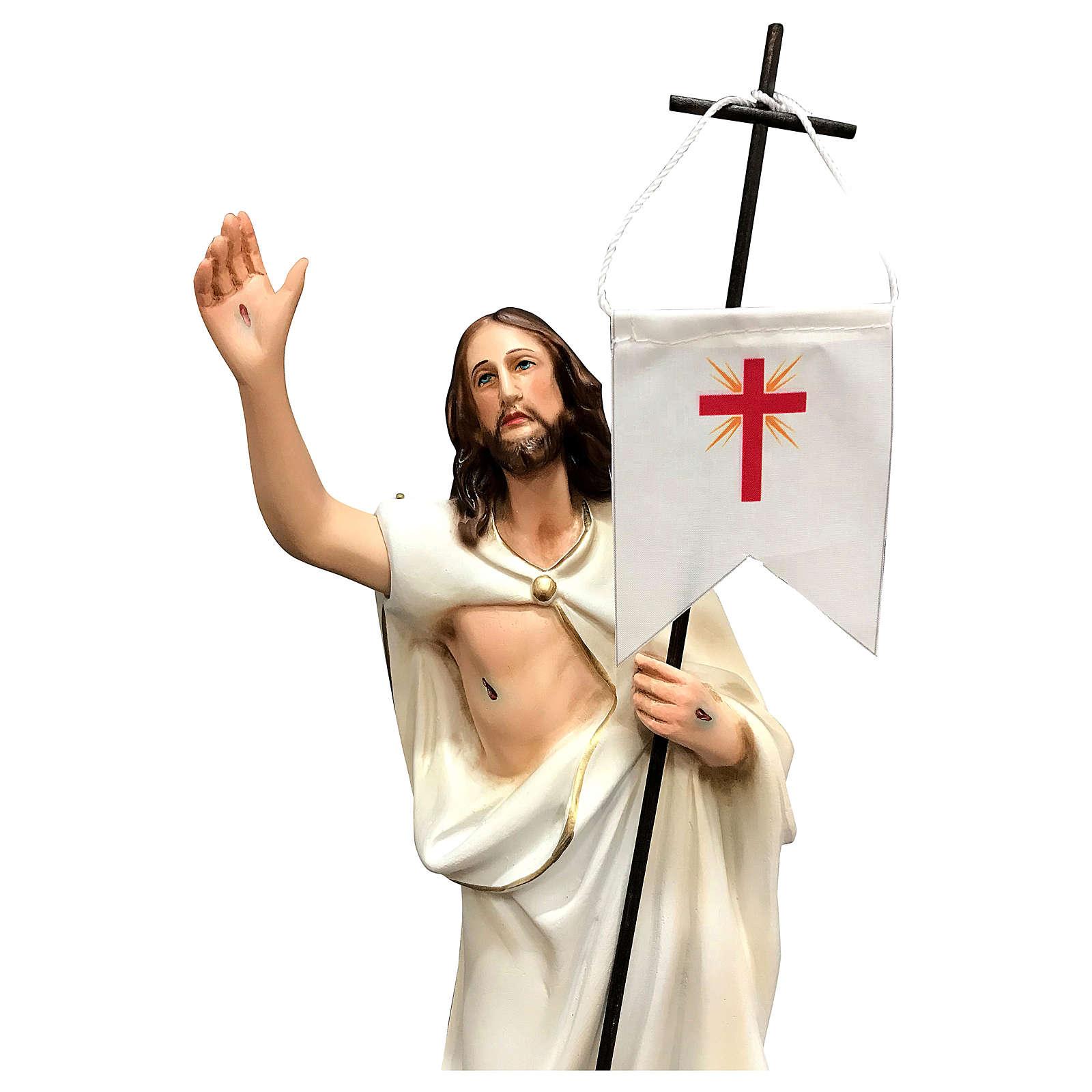 Estatua Cristo resucitado resina 40 cm pintada 4