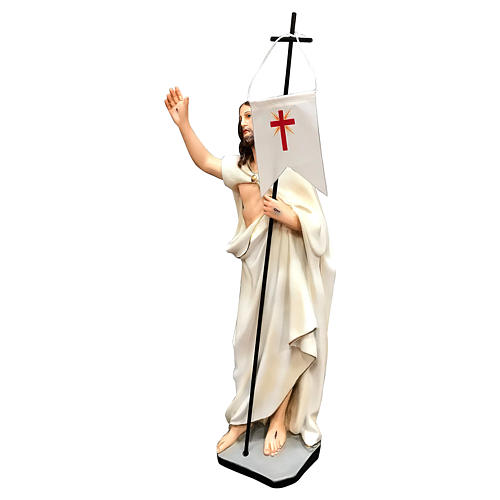Estatua Cristo resucitado resina 40 cm pintada 3