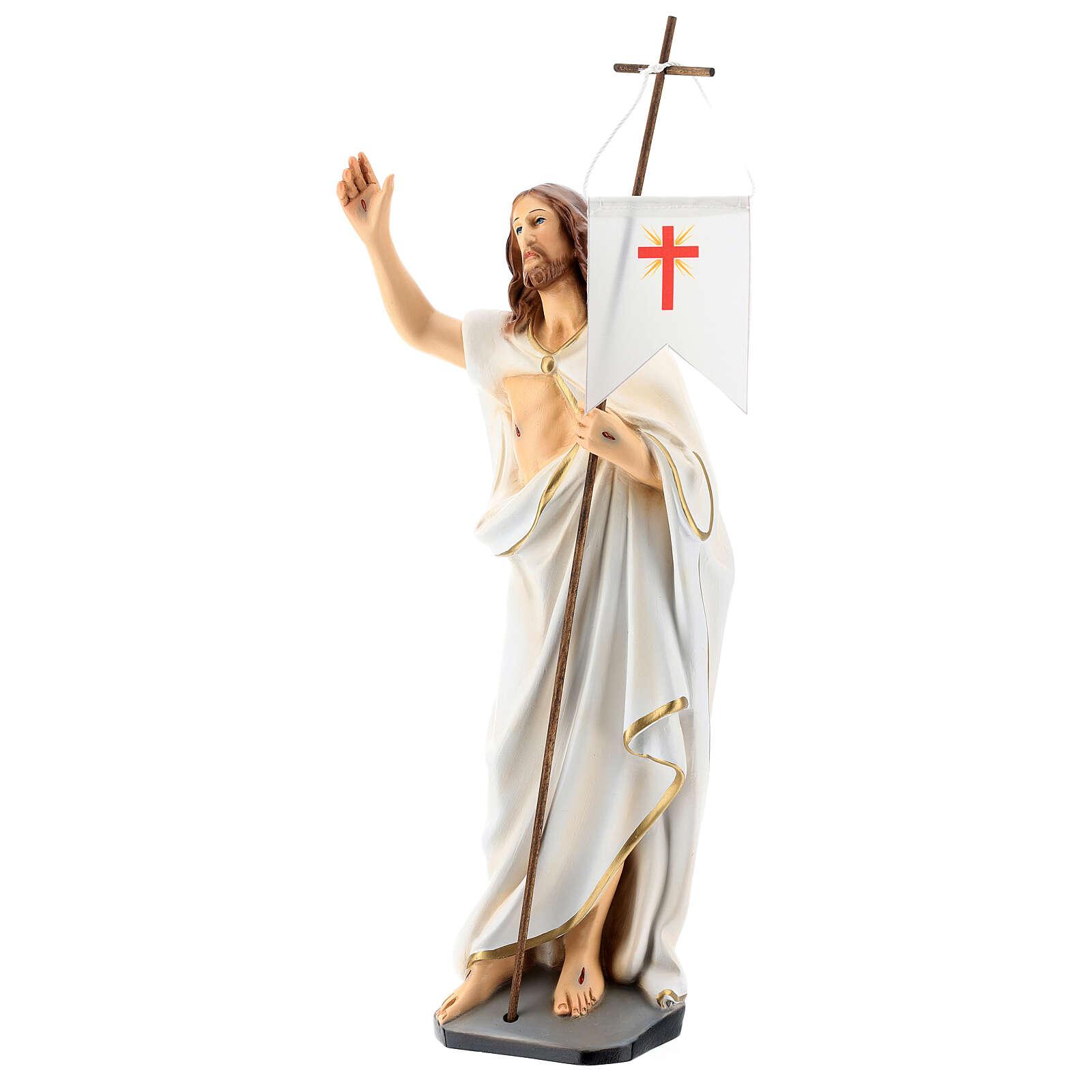 Statue Christ Ressuscité résine 40 cm peinte 4