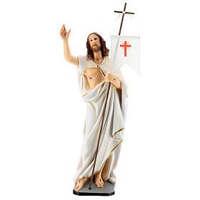 Statue Christ Ressuscité résine 40 cm peinte s1