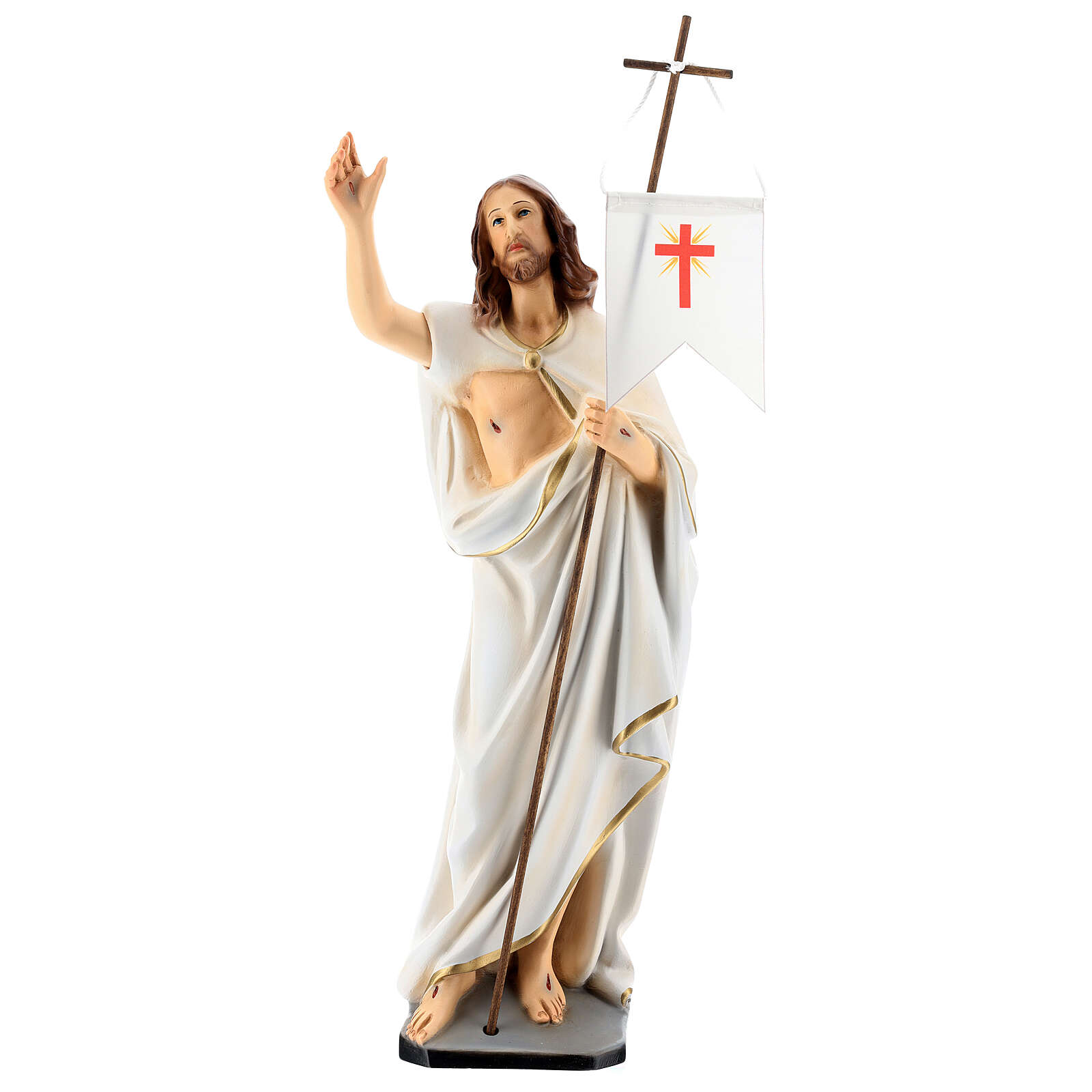 Statua Cristo risorto resina 40 cm dipinta 4