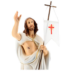 Statua Cristo risorto resina 40 cm dipinta s2