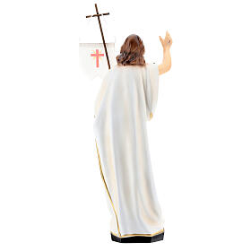 Statua Cristo risorto resina 40 cm dipinta s6
